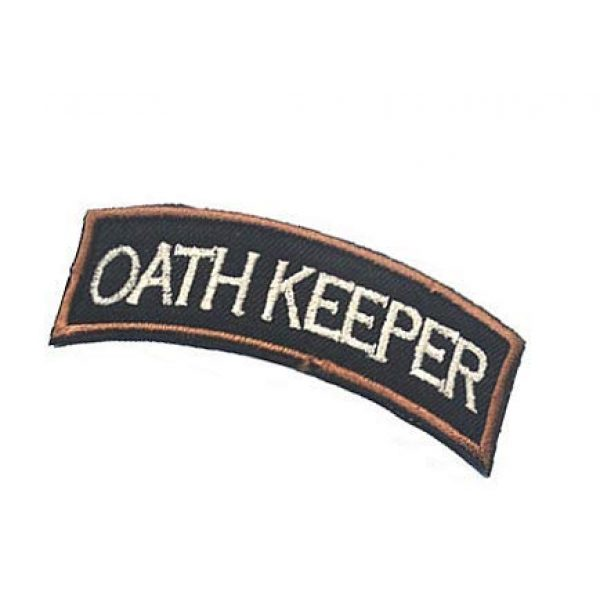 Embroidery Patch Airsoft Morale Patch 3 Oath Keeper Military Hook Loop Tactics Morale Embroidered Patch
