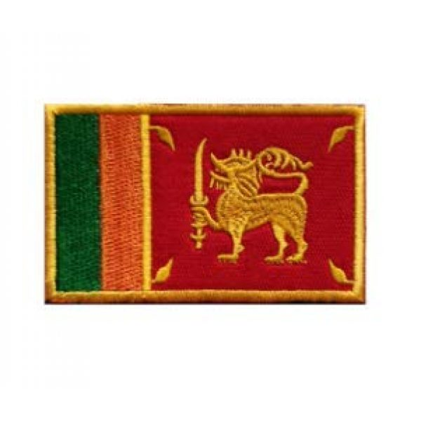 Tactical Embroidery Patch Airsoft Morale Patch 1 Sri Lanka Flag Embroidery Patch Military Tactical Morale Patch Badges Emblem Applique Hook Patches for Clothes Backpack Accessories