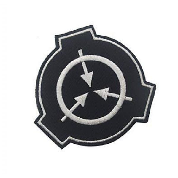Embroidery Patch Airsoft Morale Patch 2 SCP Foundation Special Containment Procedures Foundation Logo Military Hook Loop Tactics Morale Embroidered Patch (color1)