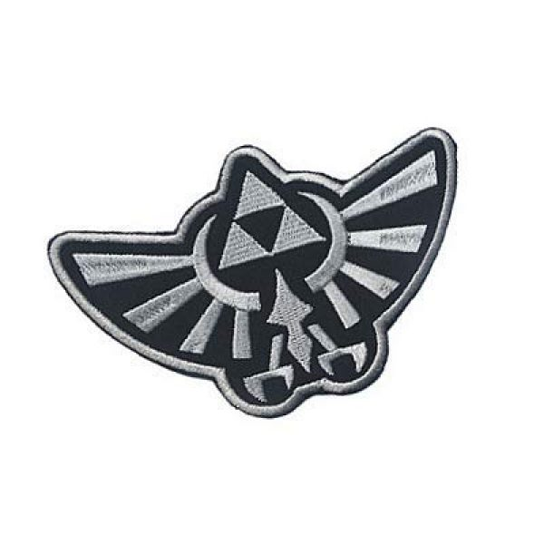 Embroidery Patch Airsoft Morale Patch 2 Zelda Hyrule Crest Wing Triforce Military Hook Loop Tactics Morale Embroidered Patch (color1)