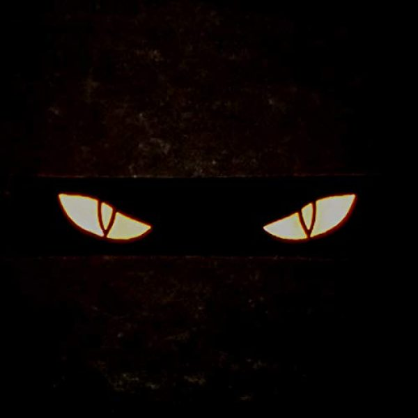 Tactical Freaky Airsoft Morale Patch 2 Reflective Scary Cat Eyes 1x5 GITD Eye Morale Tactical Touch Fastener Patch