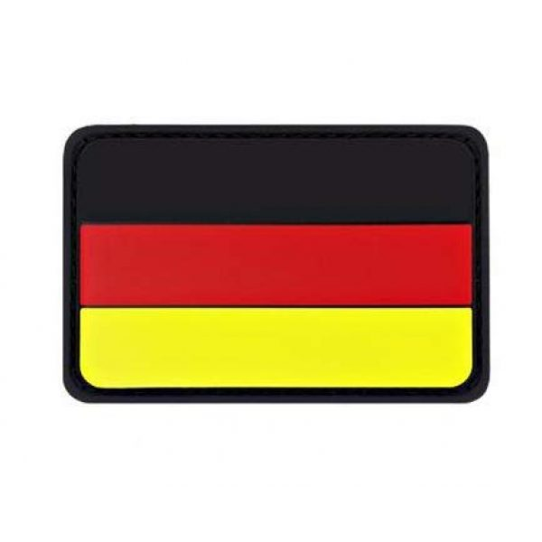 Tactical PVC Patch Airsoft Morale Patch 3 Germany Flag PVC Military Tactical Morale Patch Badges Emblem Applique Hook Patches for Clothes Backpack Accessories