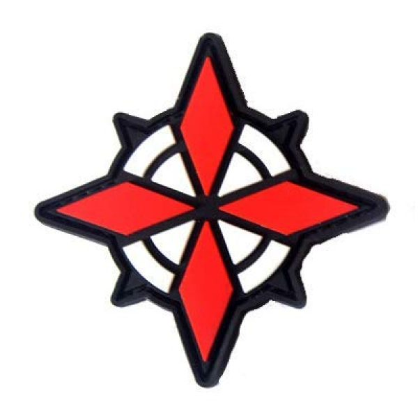 Tactical PVC Patch Airsoft Morale Patch 4 Resident Evil Operation USS Umbrella Security Service PVC Military Tactical Morale Patch Badges Emblem Applique Hook Patches for Clothes Backpack Accessories