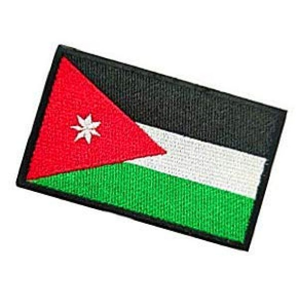 Embroidery Patch Airsoft Morale Patch 3 Jordan Flag Patch Military Hook Loop Tactics Morale Embroidered Patch