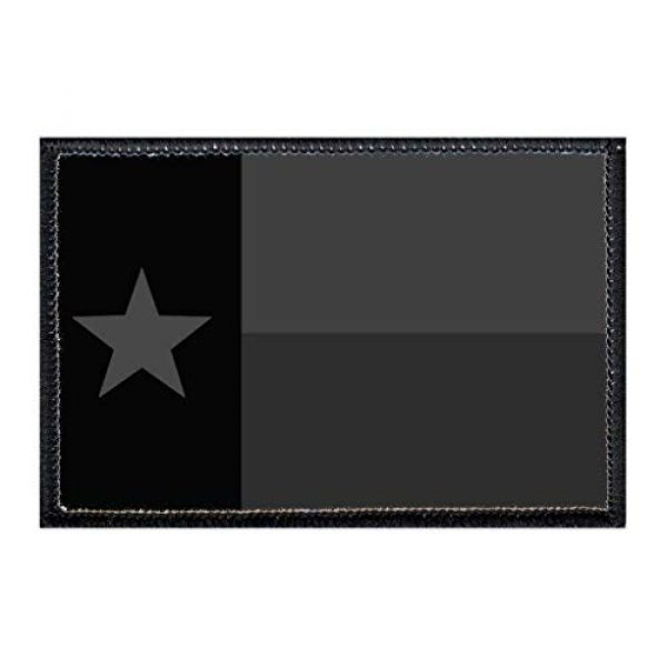 P PULLPATCH Airsoft Morale Patch 1 Texas State Flag - Blackout Morale Patch | Hook and Loop Attach for Hats, Jeans, Vest, Coat | 2x3 in | by Pull Patch