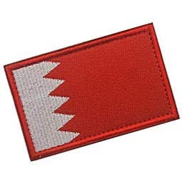 Embroidery Patch Airsoft Morale Patch 2 Bahrain Flag Patch Military Hook Loop Tactics Morale Embroidered Patch