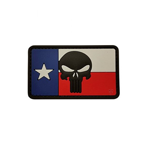 5ive Star Gear Airsoft Morale Patch 1 5ive Star Gear Texas Flag Punisher Morale Patch, Multi-Color, One Size