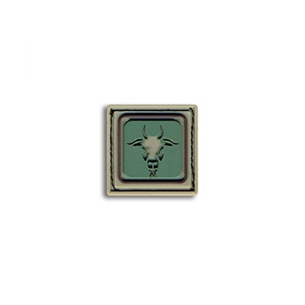 BASTION Airsoft Morale Patch 1 Bastion Tactical Combat Badge PVC Morale Patch Hook and Loop Patch - Capricorn Lite Grn