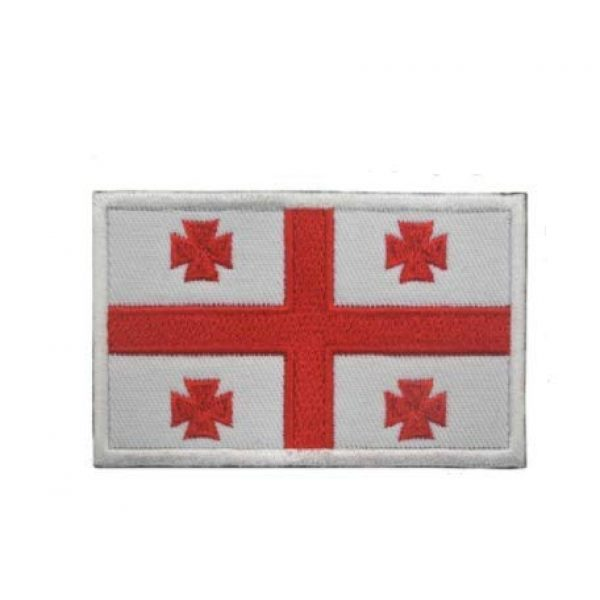 Tactical Embroidery Patch Airsoft Morale Patch 1 Georgian Flag Embroidery Patch Military Tactical Morale Patch Badges Emblem Applique Hook Patches for Clothes Backpack Accessories