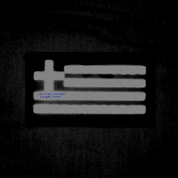 Tactical Freaky Airsoft Morale Patch 2 IR Multicam Greek Greece Flag Hellenic Hellas 3.5x2 Infrared IFF Tactical Morale Fastener Patch