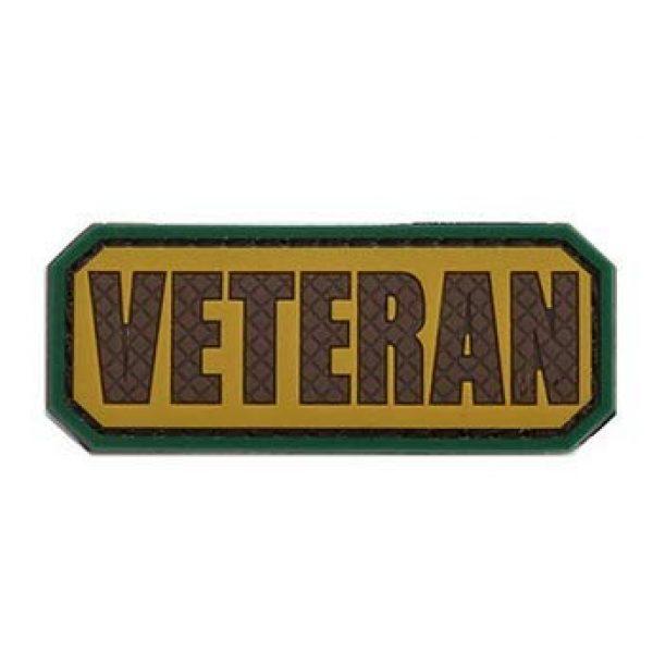 Tactical PVC Patch Airsoft Morale Patch 4 Veteran Morale Military Patch 3D PVC Rubber Tactical Rubber Hook Patch (4pcs)