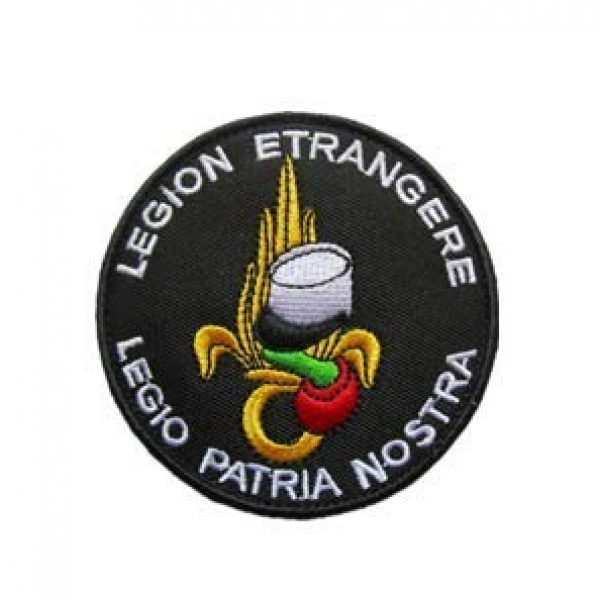 Tactical Embroidery Patch Airsoft Morale Patch 1 France French Foreign Legion Tactical Embroidery Patch Hook & Loop Morale Patch Military Patch for Clothing Accessory Backpack Armband
