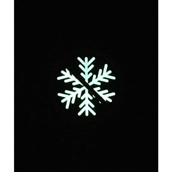 BritKitUSA Airsoft Morale Patch 2 BritKitUSA 3D PVC No Snowflakes Allowed GITD Morale Patch Glow Generation Snowflake Trigger