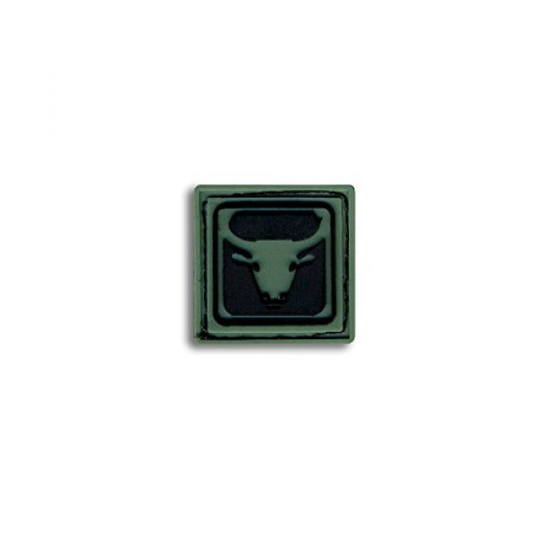 BASTION Airsoft Morale Patch 1 Bastion Tactical Combat Badge PVC Morale Patch Hook and Loop Patch - Taurus Drk Grn