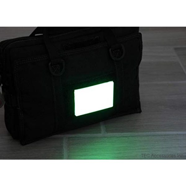 "TEC Accessories Airsoft Morale Patch 4 Embrite BEACON Morale Patch - 2"" x 3"" glow in the dark Velcro attachment"