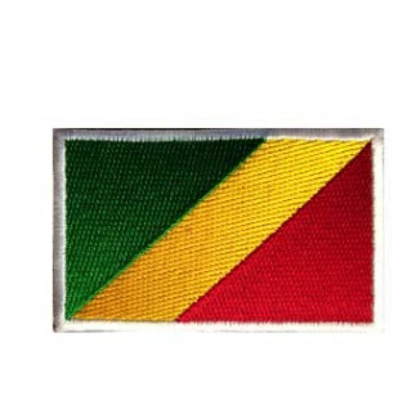 Tactical Embroidery Patch Airsoft Morale Patch 1 Congo Flag Embroidery Patch Military Tactical Morale Patch Badges Emblem Applique Hook Patches for Clothes Backpack Accessories