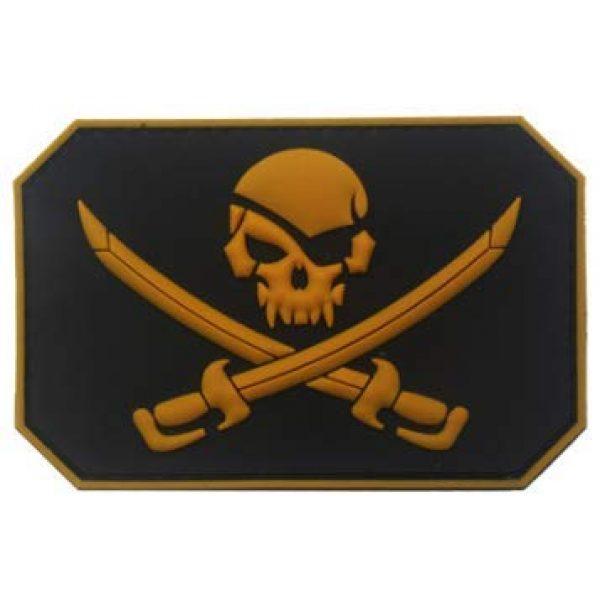 Tactical PVC Patch Airsoft Morale Patch 1 Pirate Jack Rackham Skull PVC Military Tactical Morale Patch Badges Emblem Applique Hook Patches for Clothes Backpack Accessories