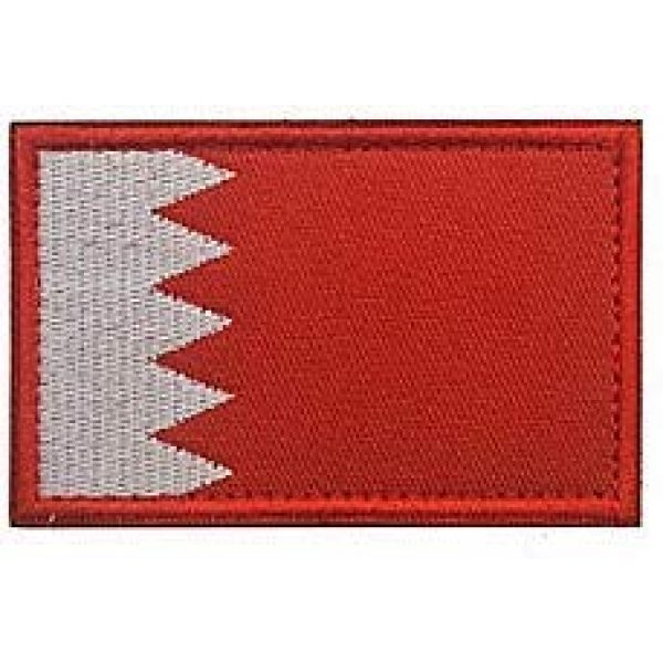Embroidery Patch Airsoft Morale Patch 1 Bahrain Flag Patch Military Hook Loop Tactics Morale Embroidered Patch