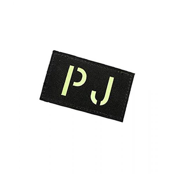 Embroidery Patch Airsoft Morale Patch 3 Pararescue Jumpers PJ Glow in The Dark Military Hook Loop Tactics Morale Patch