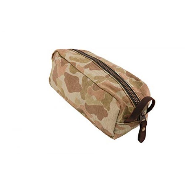 Battle Board Tactical Pouch 1 Vintage Travel Kit - Frog Skin P42 Camo (Small, Sand)