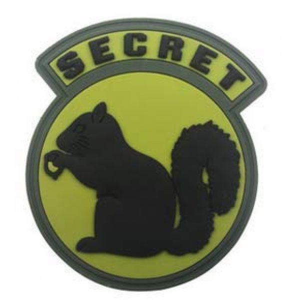 Tactical PVC Patch Airsoft Morale Patch 5 Secret Squirrel Morale Military Patch 3D PVC Rubber Tactical Rubber Hook Patch (4pcs)