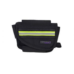 Lightning X Products Tactical Pouch 1 New Improved Design & Clip Lightning X EMS First Responder Hip Pouch w/Reflective & Belt Clip - Black