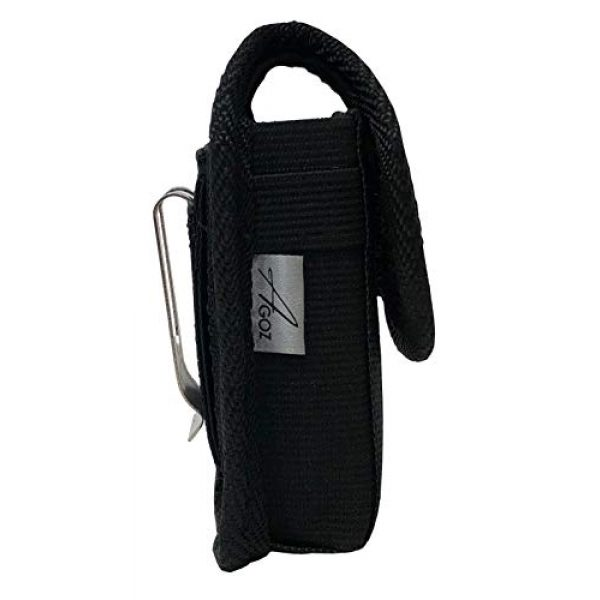 """AGOZ Tactical Pouch 3 AGOZ Military Grade Belt Clip Pouch Case Holster Compatible with Car Key Remote FOB, Inhaler, Pepper Spray, Mace, Narcan, Small Blade Knife, Small Hand Sanitizer 4.3""""x2.2""""x1"""""""