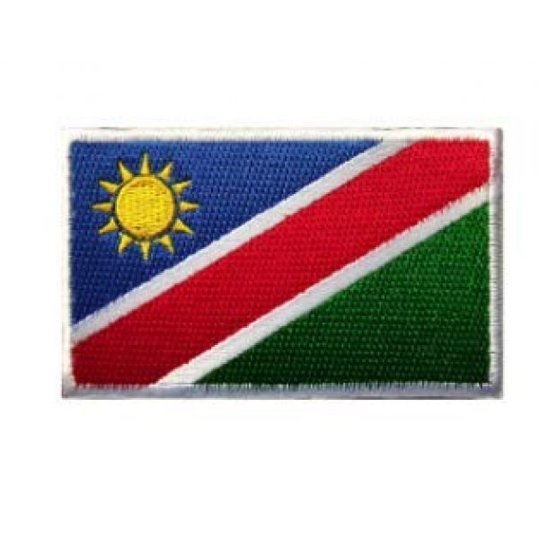 Tactical Embroidery Patch Airsoft Morale Patch 1 Namibia Flag Embroidery Patch Military Tactical Morale Patch Badges Emblem Applique Hook Patches for Clothes Backpack Accessories