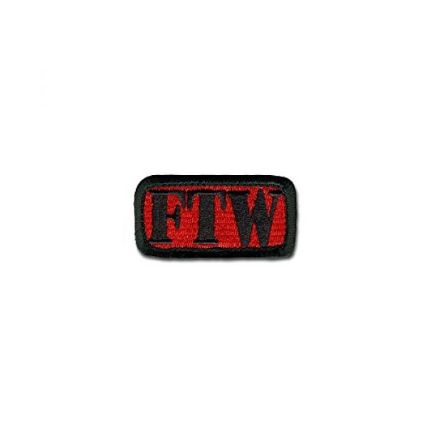 BASTION Airsoft Morale Patch 1 BASTION Morale Patches (FTW, Red)   3D Embroidered Patches with Hook & Loop Fastener Backing   Well-Made Clean Stitching   Military Patches Ideal for Tactical Bag, Hats & Vest