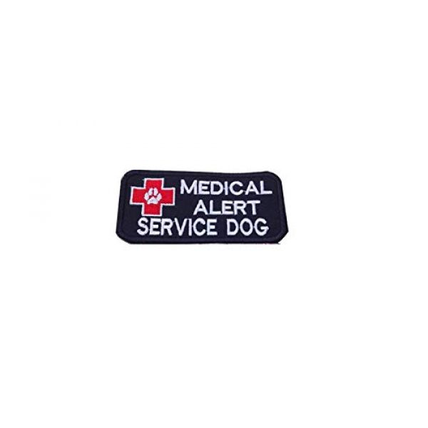 DREAM ARMY Airsoft Morale Patch 1 Medical Alert Service Dog Patch Embroidered Morale Patch Hook Backing (Black)