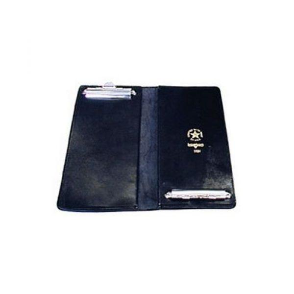 "Boston Leather Tactical Pouch 1 Boston Leather 5884-1 Plain Leather 5.125"" x 11.625"" Citation Book w/Clip"