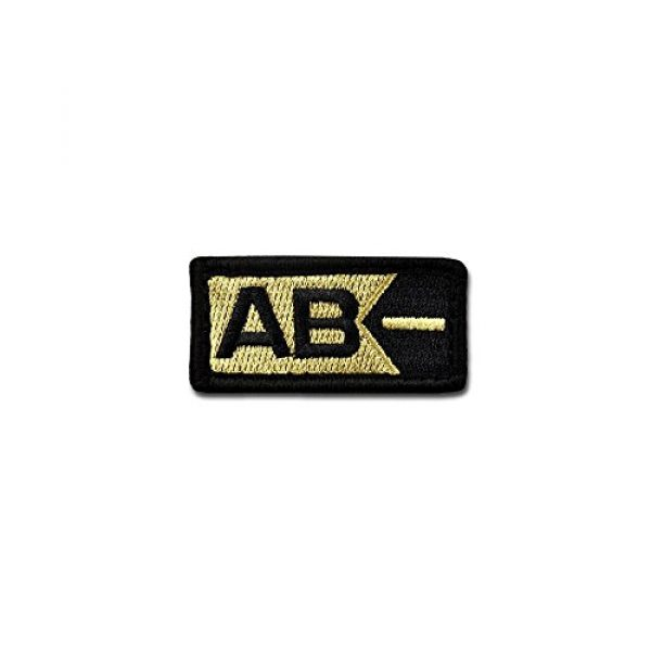 BASTION Airsoft Morale Patch 1 BASTION Morale Patches (Blood Type AB Neg, ACU) | 3D Embroidered Patches with Hook & Loop Fastener Backing | Well-Made Clean Stitching | Military Patches for Tactical Bag, Hats & Vest