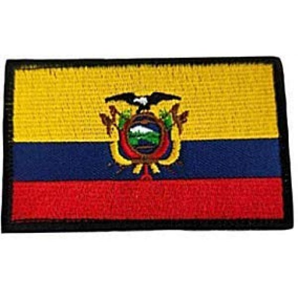Embroidery Patch Airsoft Morale Patch 1 Ecuadorian Flag Patch Military Hook Loop Tactics Morale Embroidered Patch