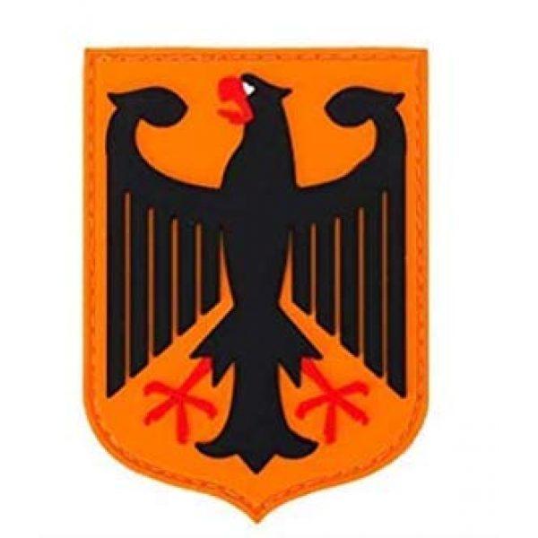Tactical PVC Patch Airsoft Morale Patch 1 Germany Eagle German PVC Military Tactical Morale Patch Badges Emblem Applique Hook Patches for Clothes Backpack Accessories
