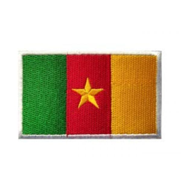 Tactical Embroidery Patch Airsoft Morale Patch 1 Cameroon Flag Embroidery Patch Military Tactical Morale Patch Badges Emblem Applique Hook Patches for Clothes Backpack Accessories