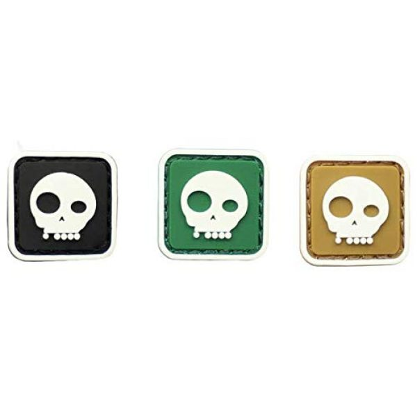 Tactical PVC Patch Airsoft Morale Patch 1 3pcs Mini Size Skull Glowing in Dark PVC Military Tactical Morale Patch Badges Emblem Applique Hook Patches for Clothes Backpack Accessories