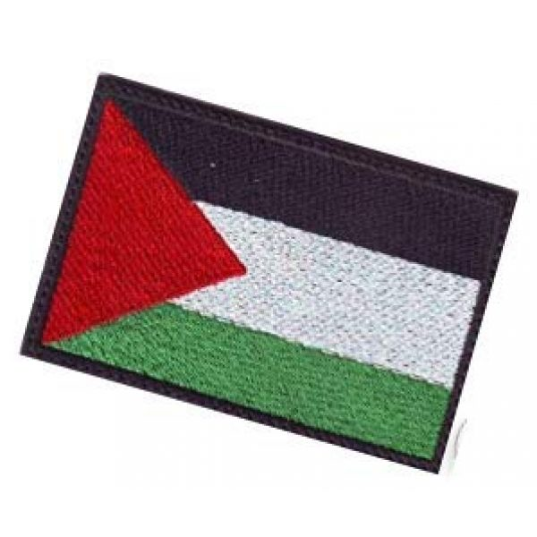 Embroidery Patch Airsoft Morale Patch 3 Palestinian Flag Patch Military Hook Loop Tactics Morale Embroidered Patch