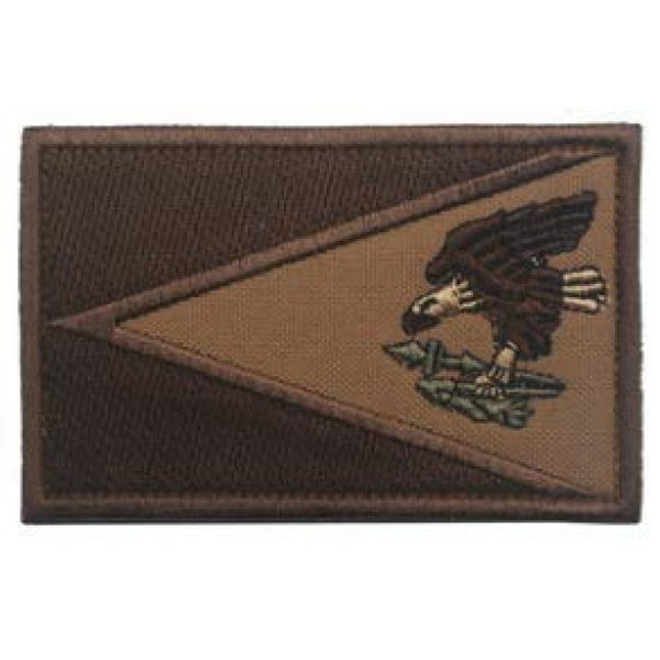 Embroidery Patch Airsoft Morale Patch 1 American Samoa Flag Patch Military Hook Loop Tactics Morale Embroidered Patch (coloor2)