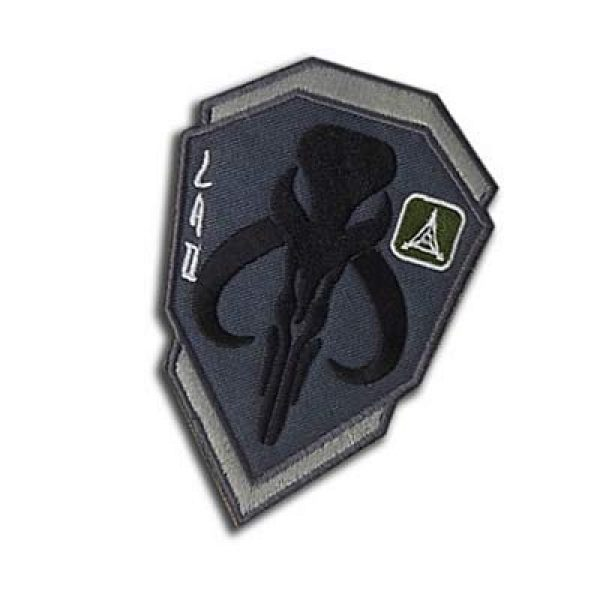 Embroidery Patch Airsoft Morale Patch 3 Star Wars Boba Fett Mandalorian Bantha Skull Military Hook Loop Tactics Morale Embroidered Patch (color3)