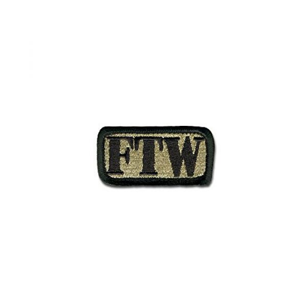 BASTION Airsoft Morale Patch 1 BASTION Morale Patches (FTW, ACU) | 3D Embroidered Patches with Hook & Loop Fastener Backing | Well-Made Clean Stitching | Military Patches Ideal for Tactical Bag, Hats & Vest