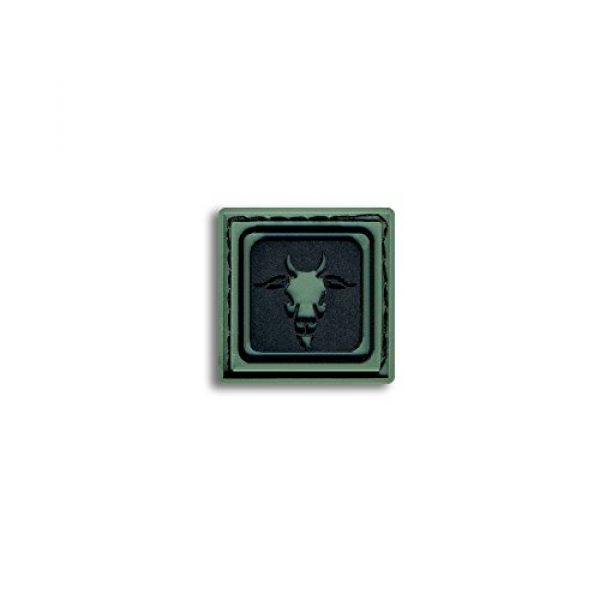 BASTION Airsoft Morale Patch 1 Bastion Tactical Combat Badge PVC Morale Patch Hook and Loop Patch - Capricorn Drk Grn