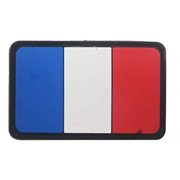 Tactical PVC Patch Airsoft Morale Patch 1 France Flag PVC Military Tactical Morale Patch Badges Emblem Applique Hook Patches for Clothes Backpack Accessories