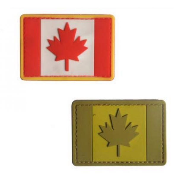 Tactical PVC Patch Airsoft Morale Patch 1 Canada Flag PVC Military Tactical Morale Patch Badges Emblem Applique Hook Patches for Clothes Backpack Accessories