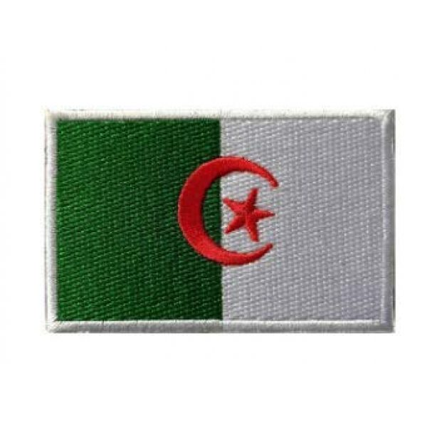 Tactical Embroidery Patch Airsoft Morale Patch 1 Algeria Flag Embroidery Patch Military Tactical Morale Patch Badges Emblem Applique Hook Patches for Clothes Backpack Accessories