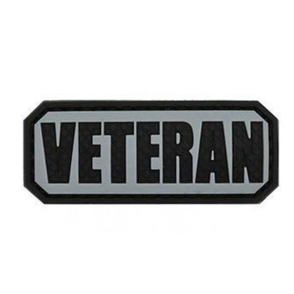 Tactical PVC Patch Airsoft Morale Patch 5 Veteran Morale Military Patch 3D PVC Rubber Tactical Rubber Hook Patch (4pcs)