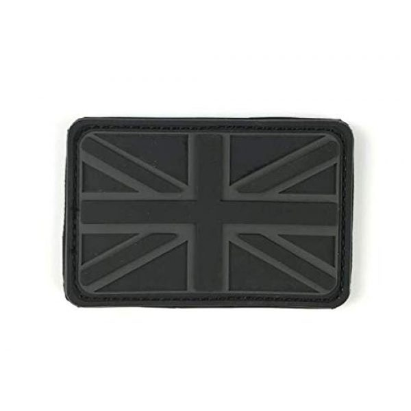 Tactical PVC Patch Airsoft Morale Patch 1 UK United Kingdom Flag PVC Military Tactical Morale Patch Badges Emblem Applique Hook Patches for Clothes Backpack Accessories
