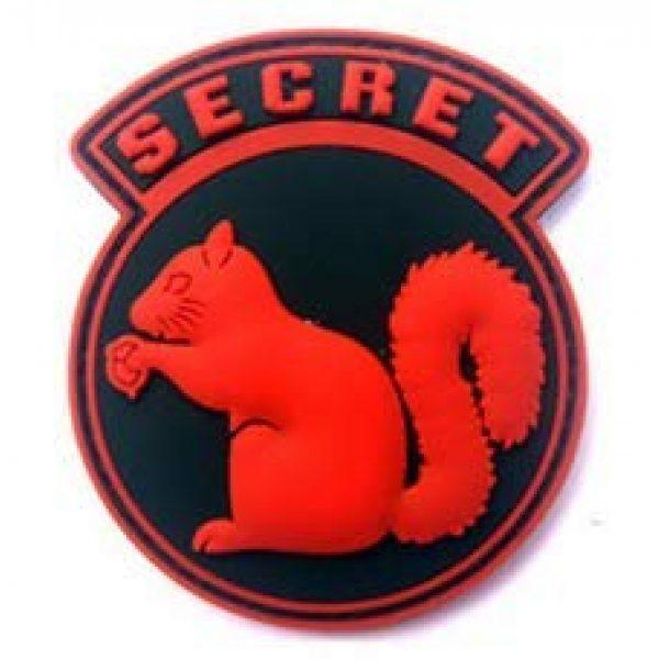 Tactical PVC Patch Airsoft Morale Patch 3 Secret Squirrel Morale Military Patch 3D PVC Rubber Tactical Rubber Hook Patch (4pcs)