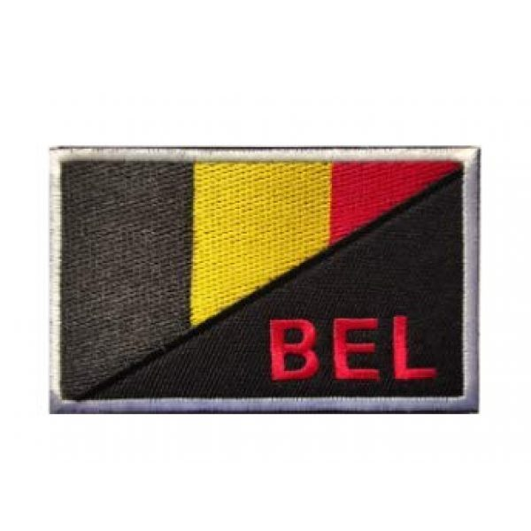 Tactical Embroidery Patch Airsoft Morale Patch 1 Belgium Flag Embroidery Patch Military Tactical Morale Patch Badges Emblem Applique Hook Patches for Clothes Backpack Accessories