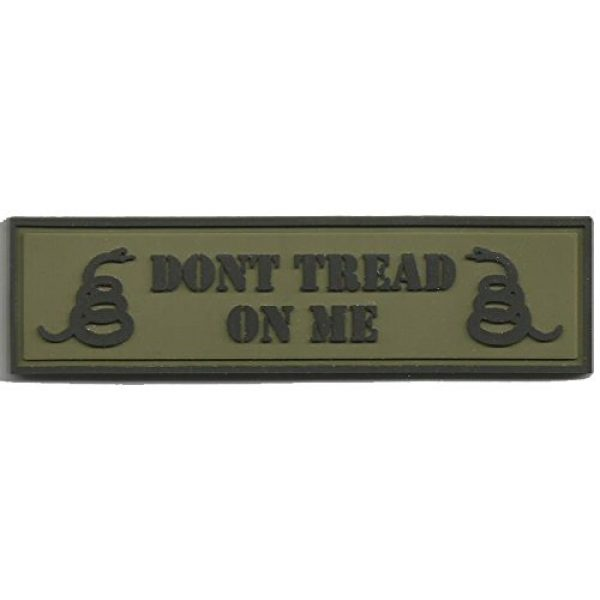 Gadsden and Culpeper Airsoft Morale Patch 1 PVC Tactical Patch - Dont Tread On Me