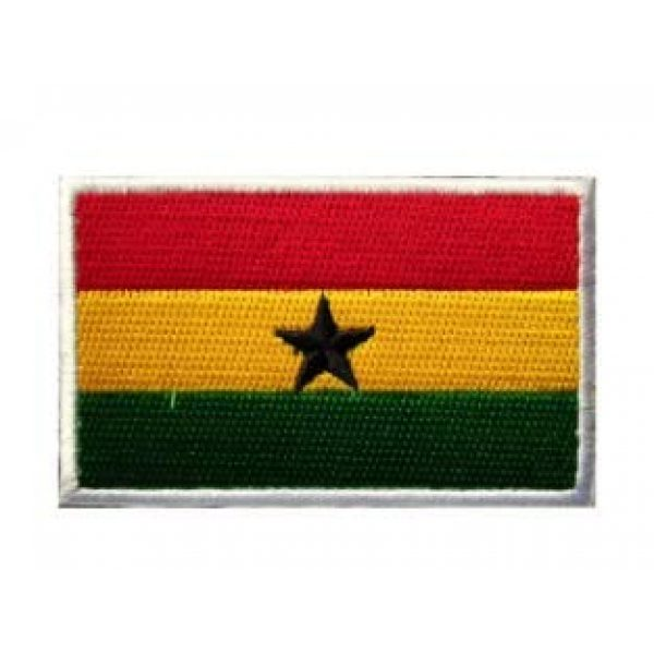 Tactical Embroidery Patch Airsoft Morale Patch 1 Ghana Flag Embroidery Patch Military Tactical Morale Patch Badges Emblem Applique Hook Patches for Clothes Backpack Accessories